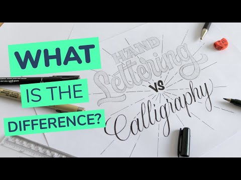 difference between hand lettering and calligraphy