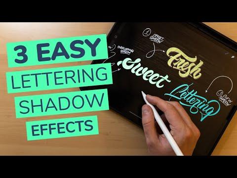 3 EASY Lettering Shadow Effects In Procreate (2021)
