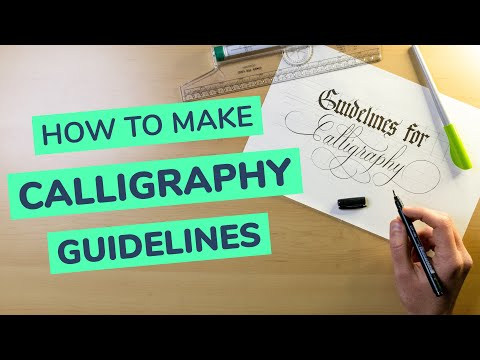 calligraphy guidelines