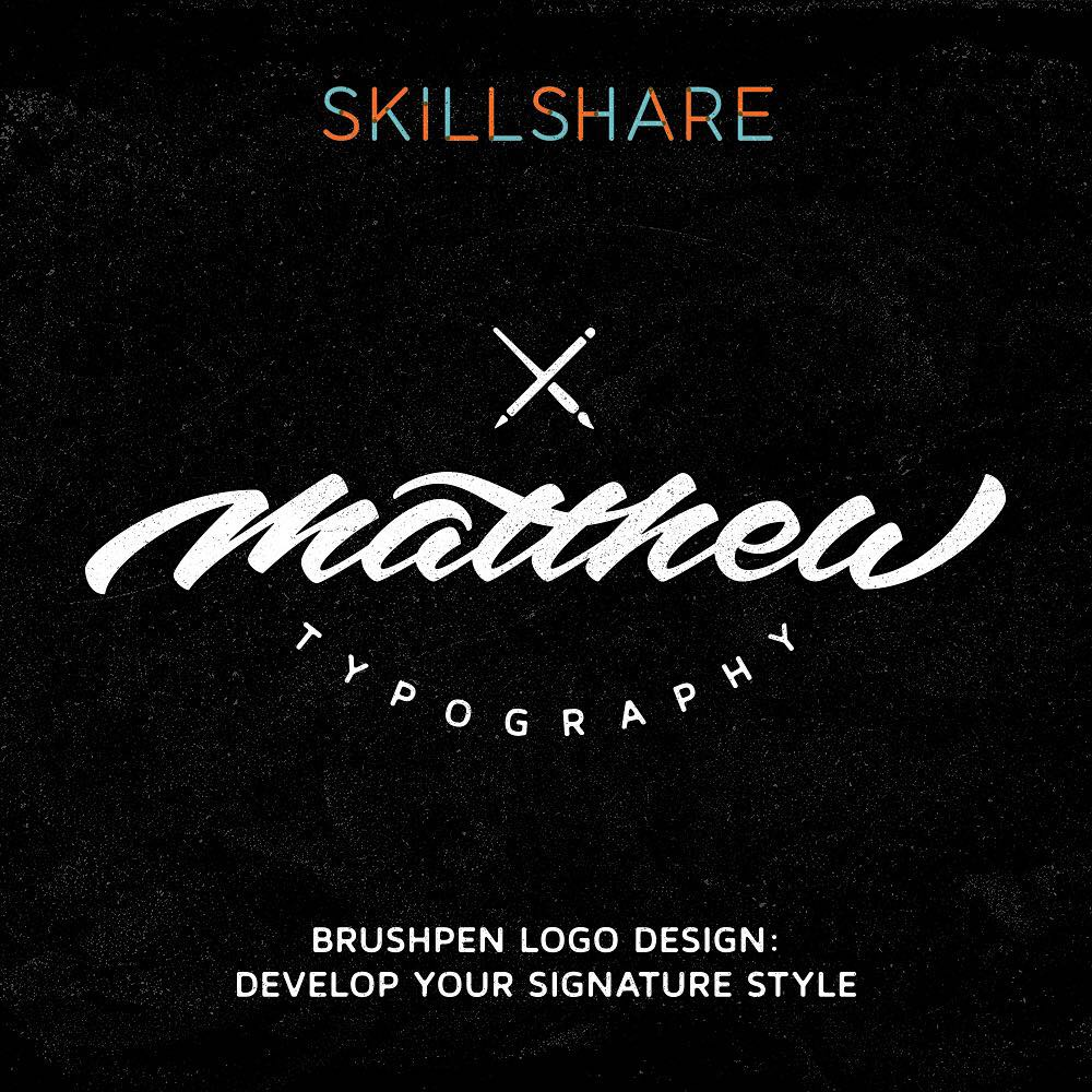 brush pen logo design course review - Lettering Daily