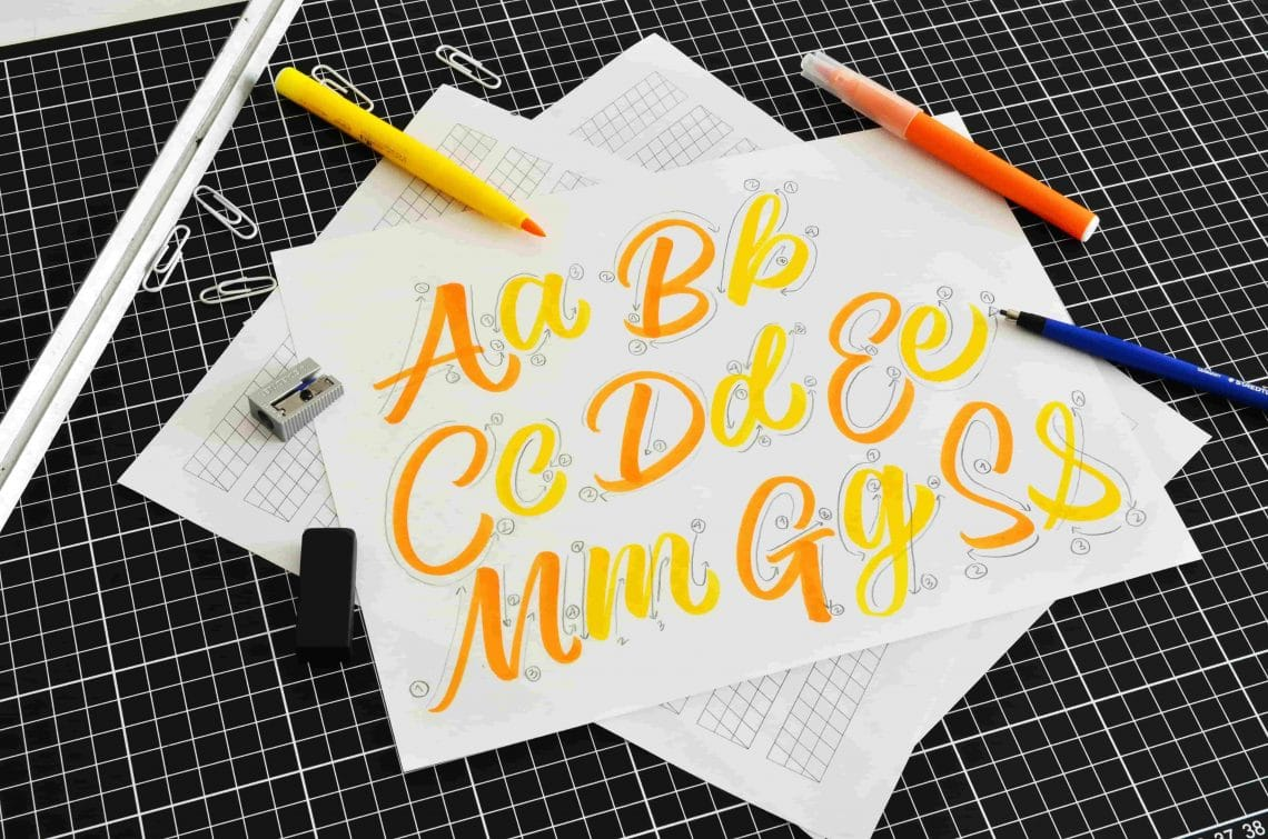brush lettering for beginners, a step-by-step guide - Lettering Daily