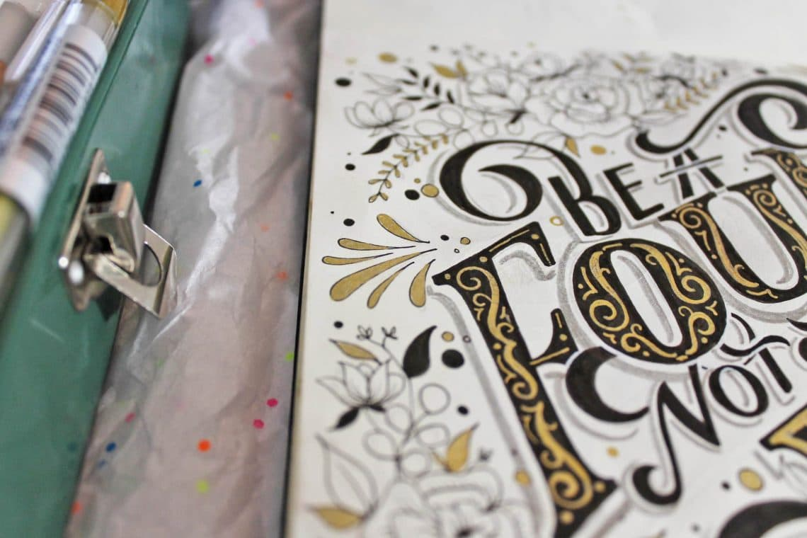 Improve your hand lettering layout with these 5 EASY steps - Lettering Daily