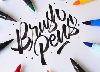 brush pens cover - lettering daily