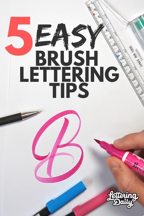 5 Easy brush lettering tips - Lettering Daily