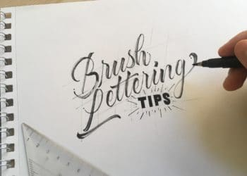 5 EASY Brush Lettering Tips - 2018 - Lettering Daily