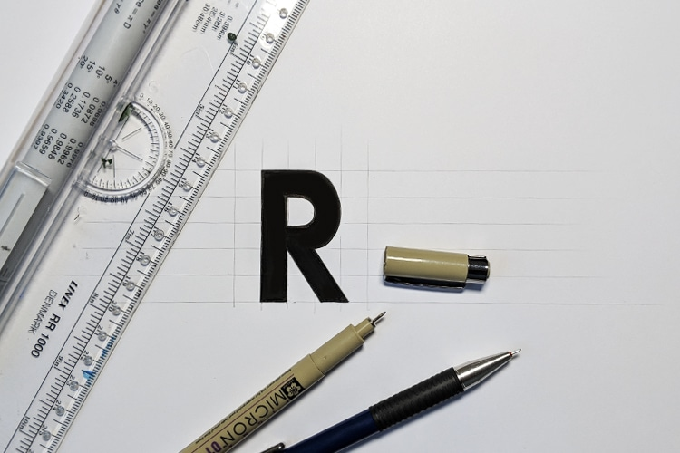 Letter R done
