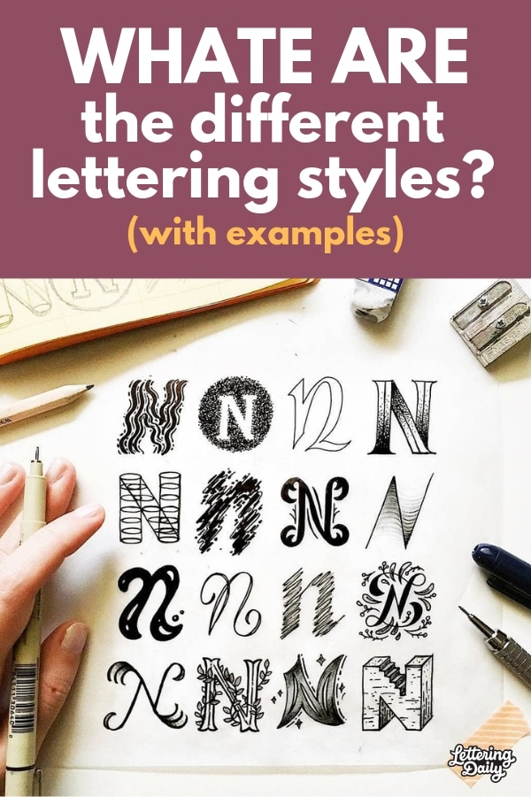 What are the different lettering styles - Lettering Daily