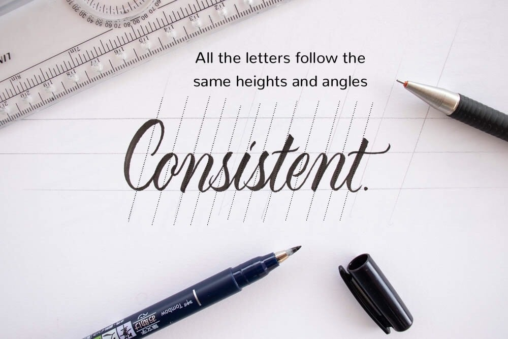 An example of consistent lettering - Lettering Daily