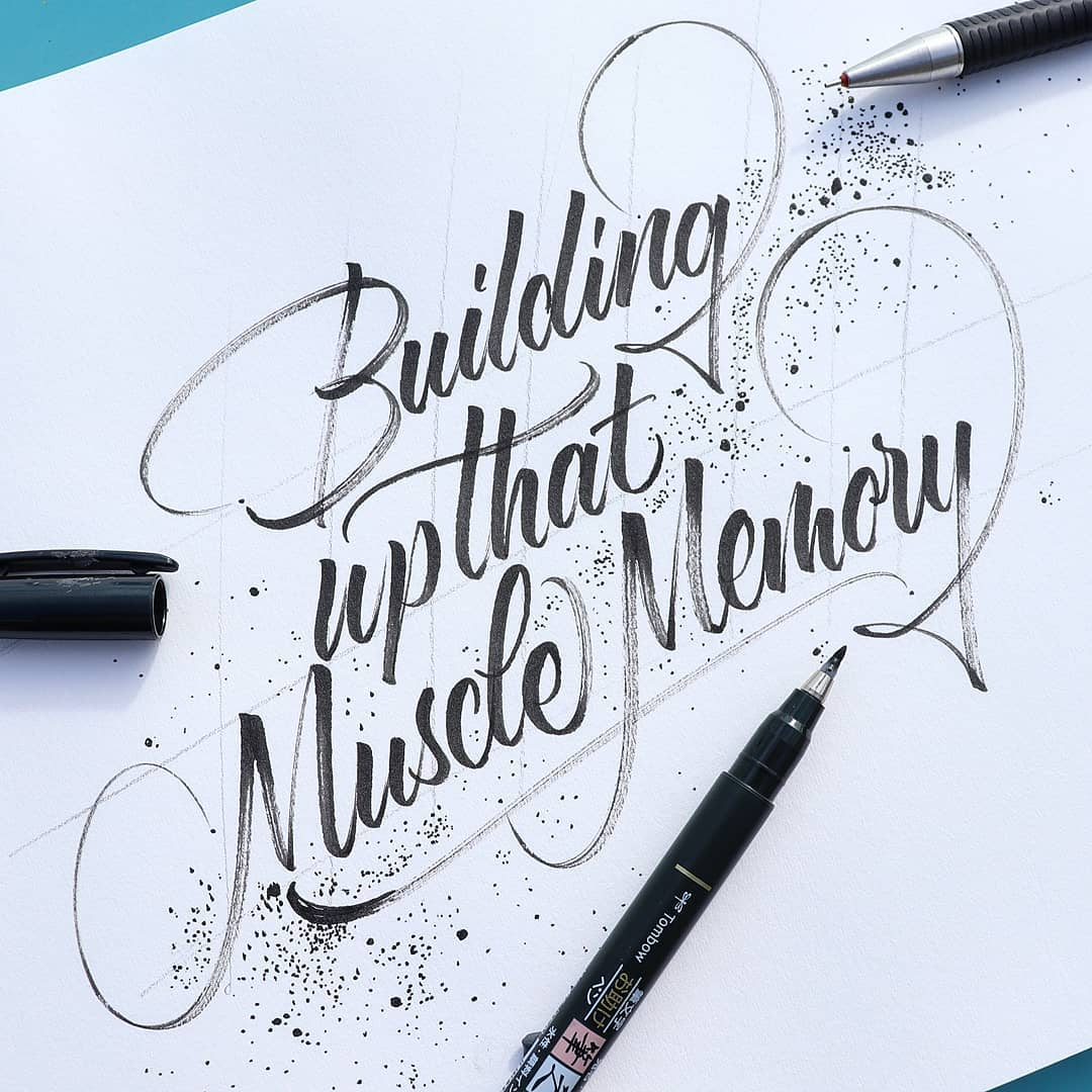 Modern calligraphy example 1 - Lettering Daily