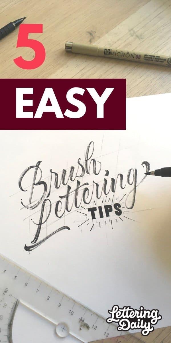 5 EASY brush lettering tips - Lettering Daily 2
