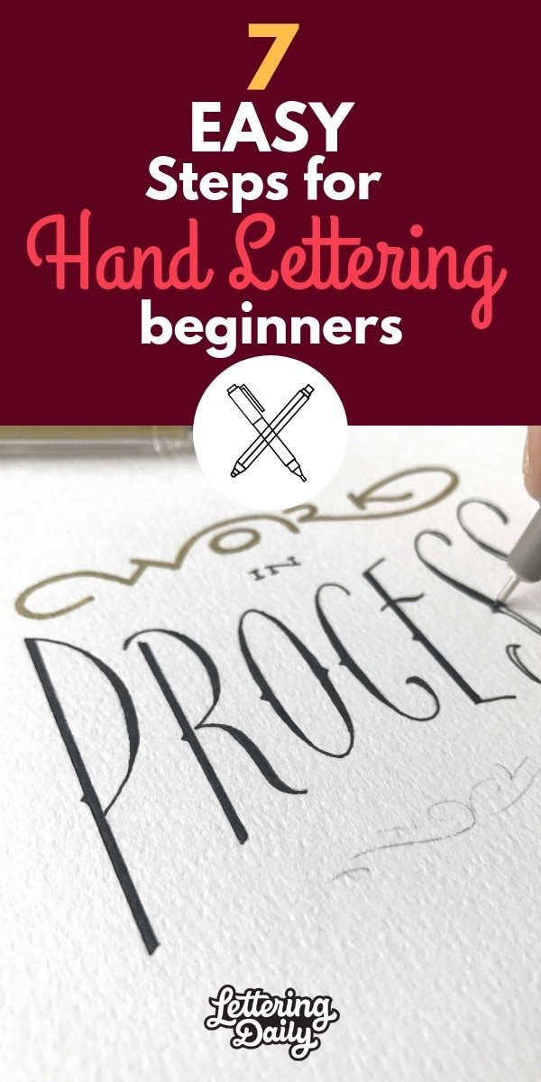 7 EASY steps for hand lettering beginners - Lettering Daily