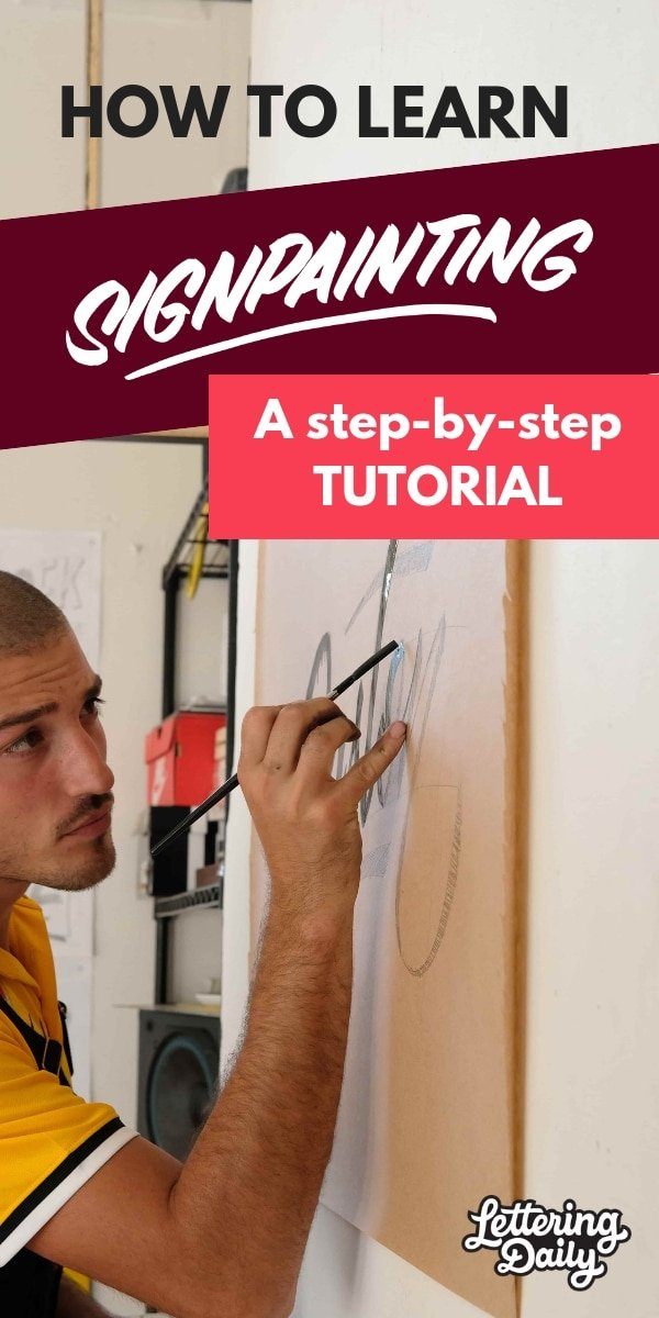How to learn sign painting step by step - lettering daily