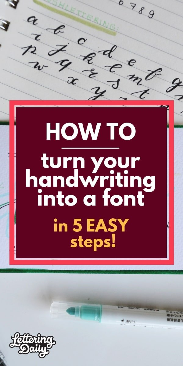 How to turn your handwriting into a font in 5 easy steps