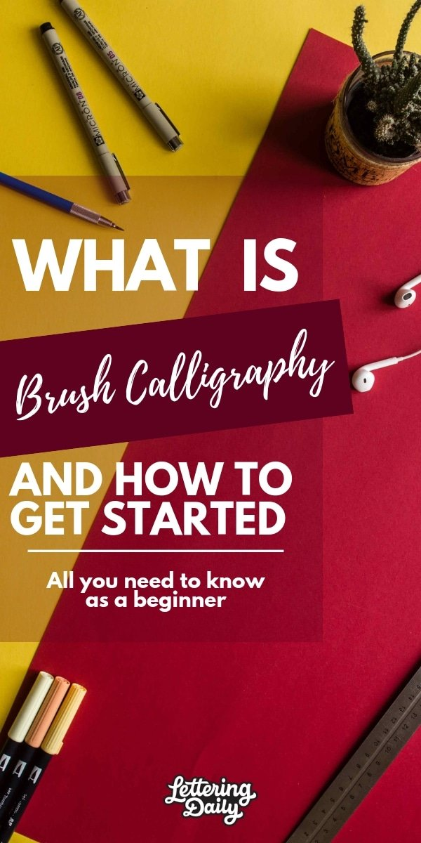WHAT IS brush calligraphy - lettering daily