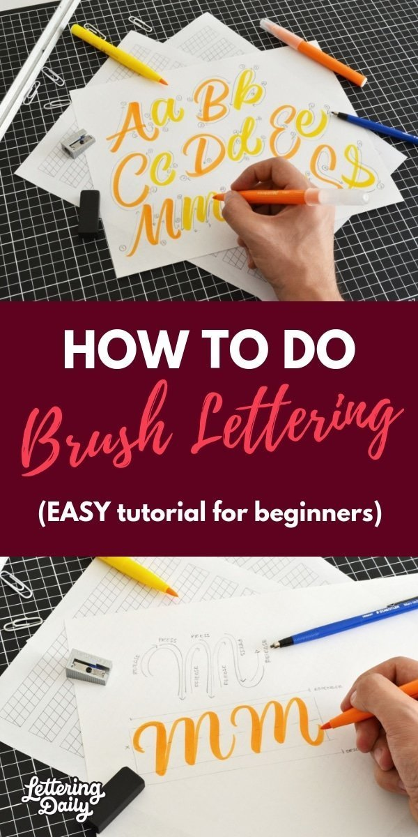 how to do brush lettering for beginners - lettering daily