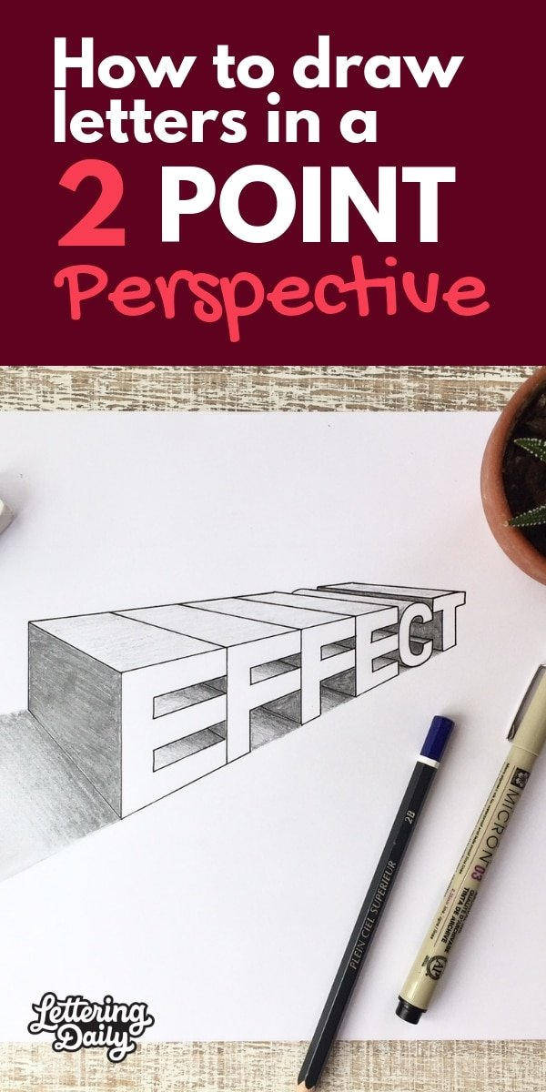 how to draw letters in perspective - lettering daily