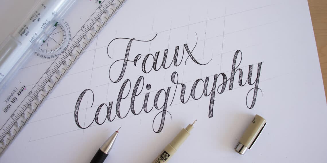 How To Do Faux Calligraphy + FREE Worksheets (2020) Lettering Daily