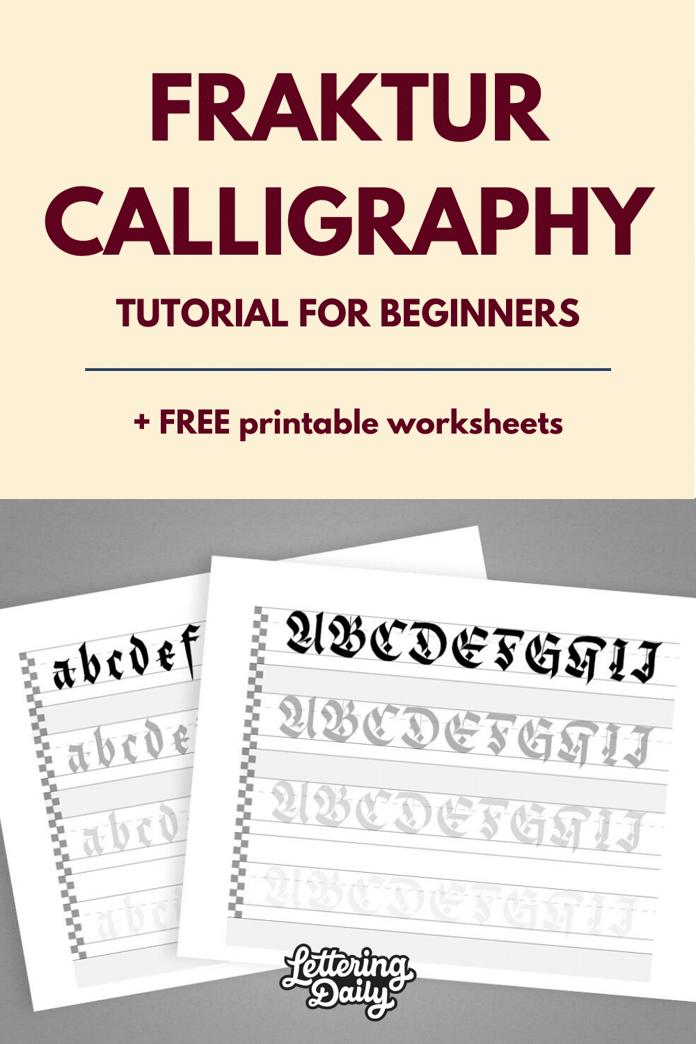 Fraktur Calligraphy for beginners - Lettering Daily