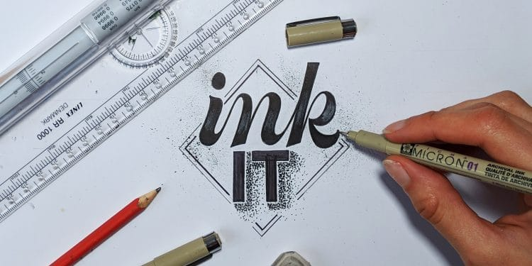 5 EASY tips to improve your hand lettering inking