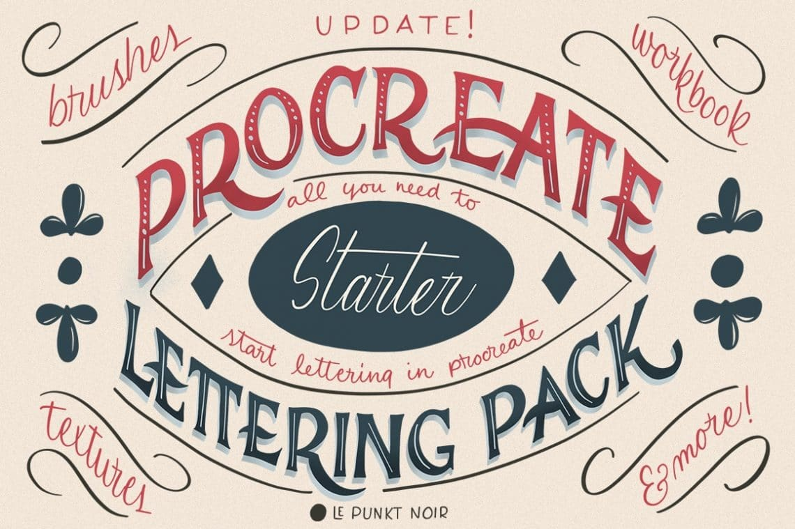 TOP 15 Procreate Brushes for Lettering & Calligraphy