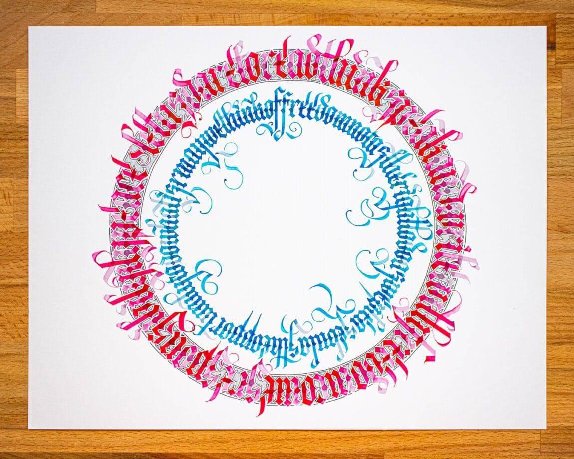 final result of the calligram tutorial
