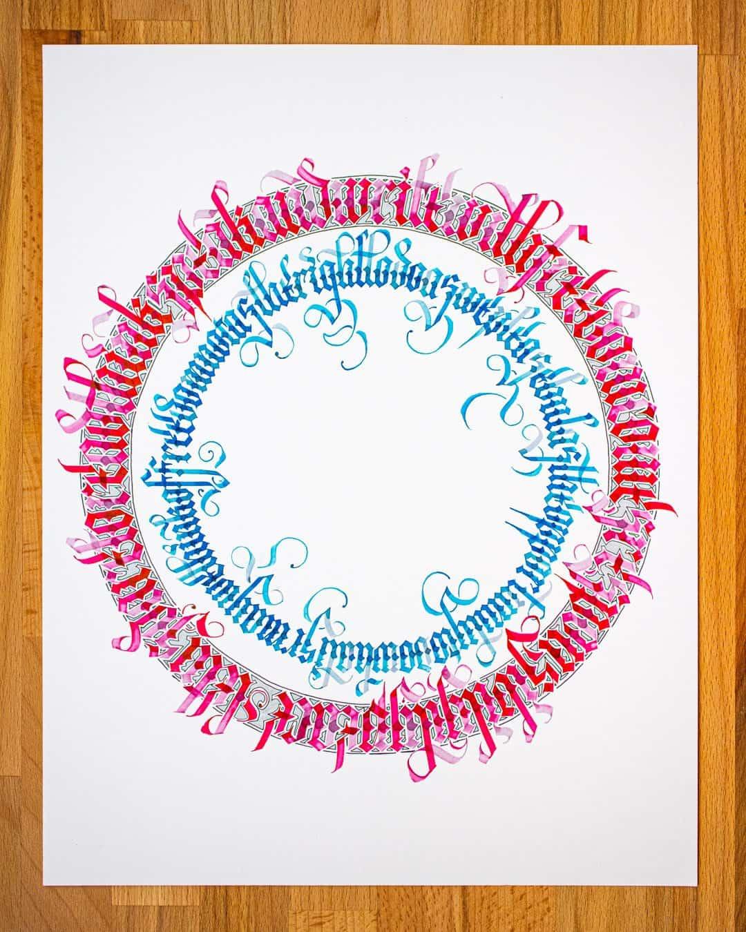 Cover image for the tutorial - circular calligram