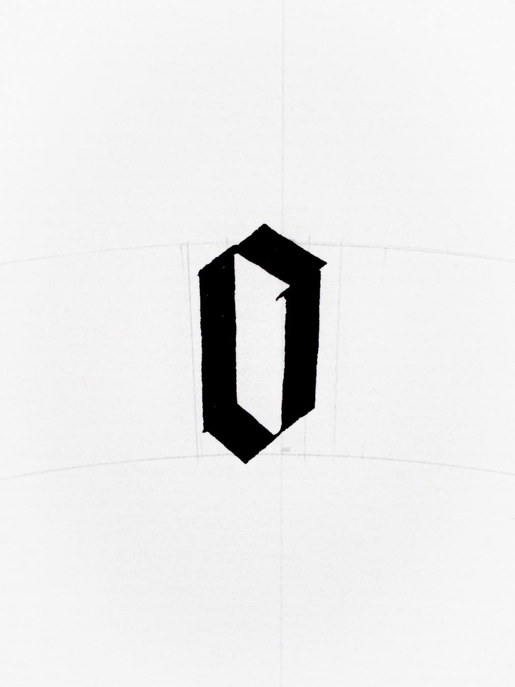 letter o in gothic script