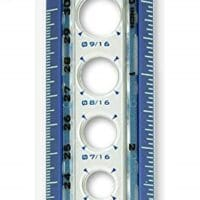 Helix Circle Ruler with Integrated Circle Templates, 12 Inch / 30cm, Assorted Colors (36001)