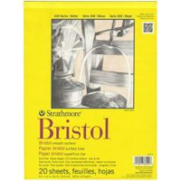 "300 Series Bristol Smooth Pad, 9""x12"" Tape Bound, 20 Sheets"