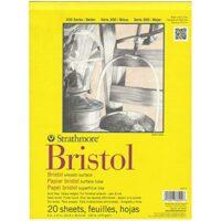 "300 Series Bristol Smooth Pad, 9""x12"" Tape Bound, 20 Sheets"