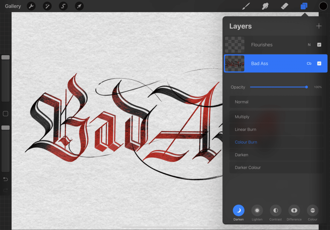 iPad lettering for beginners - how to use Procreate - Lettering Daily