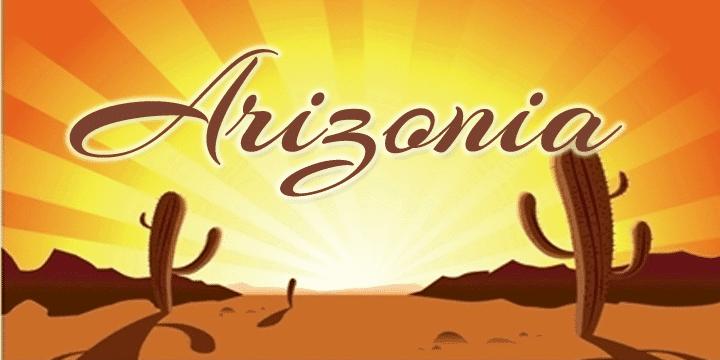 Arizonia font cover