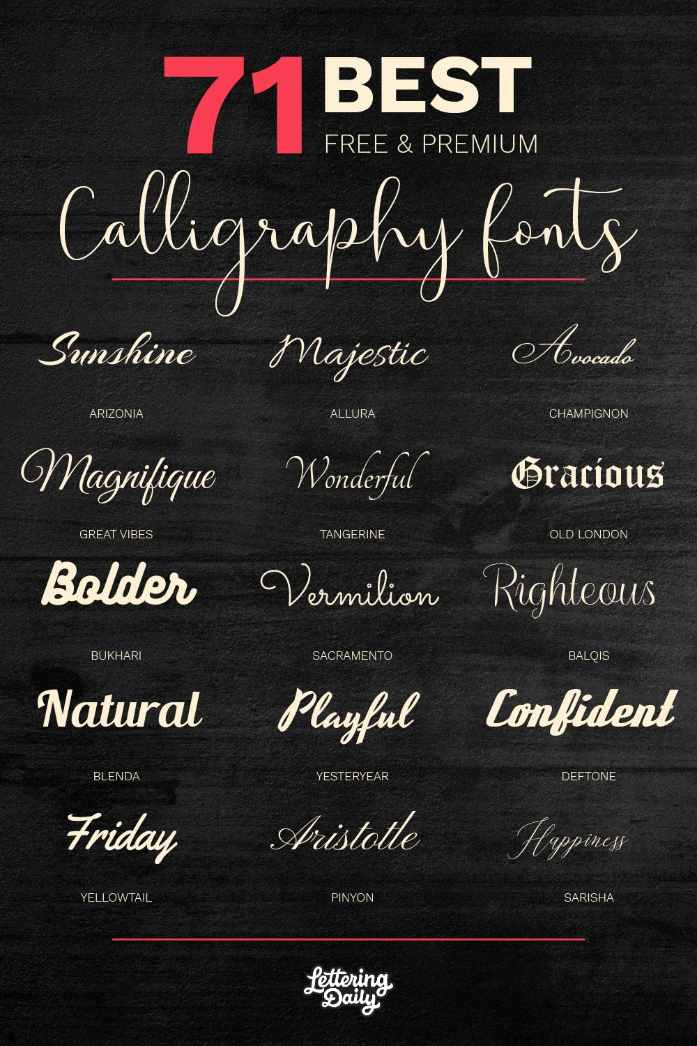 Best calligraphy fonts - Lettering Daily-01
