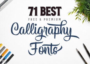 Best calligraphy fonts article cover