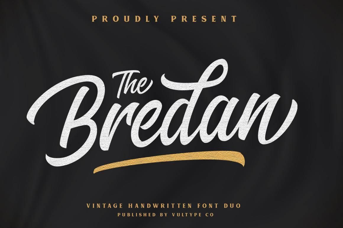 Bredan-Vintage- calligraphy font