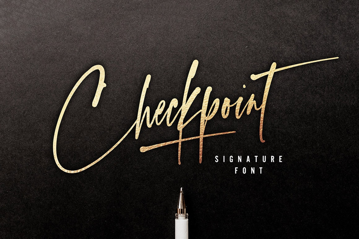 Checkpoint calligraphy font