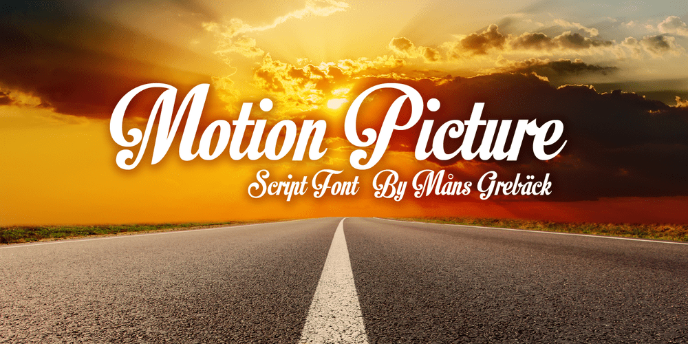 Motion Picture Font cover