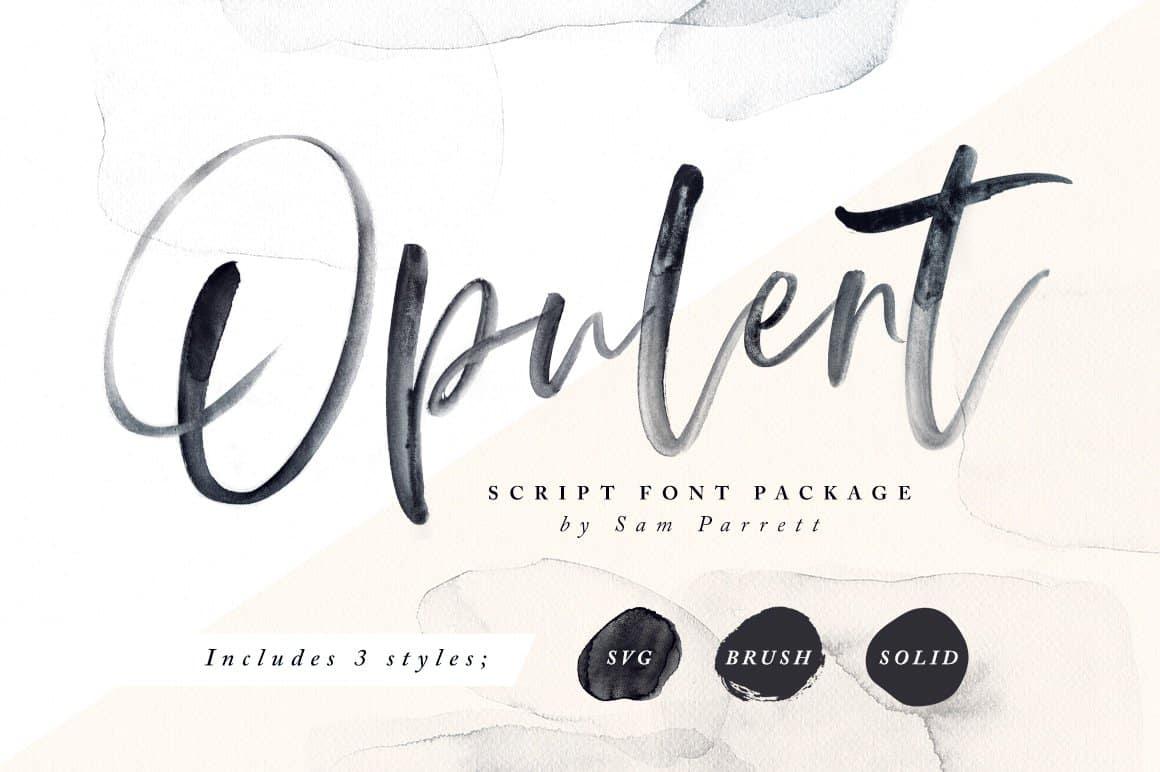 Opulent-calligraphy font