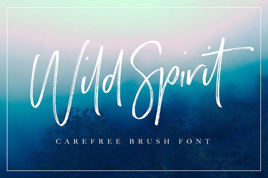 Wild-Spirit-Script calligraphy font