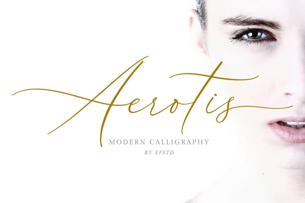 Aerotis calligraphy font