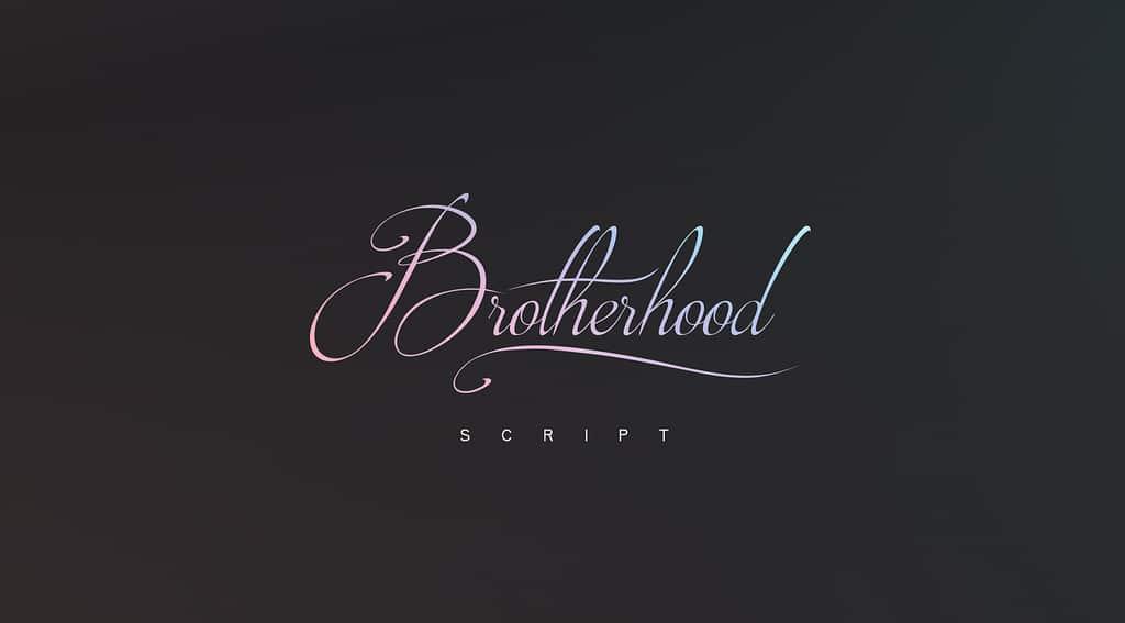 brotherhood-script-font cover