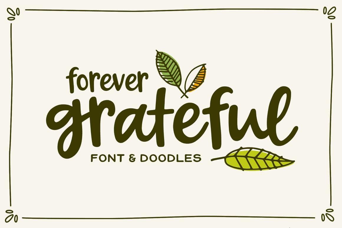 forevergrateful-calligraphy font