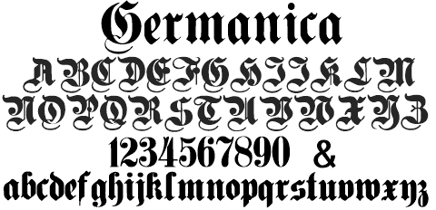 germanica font cover