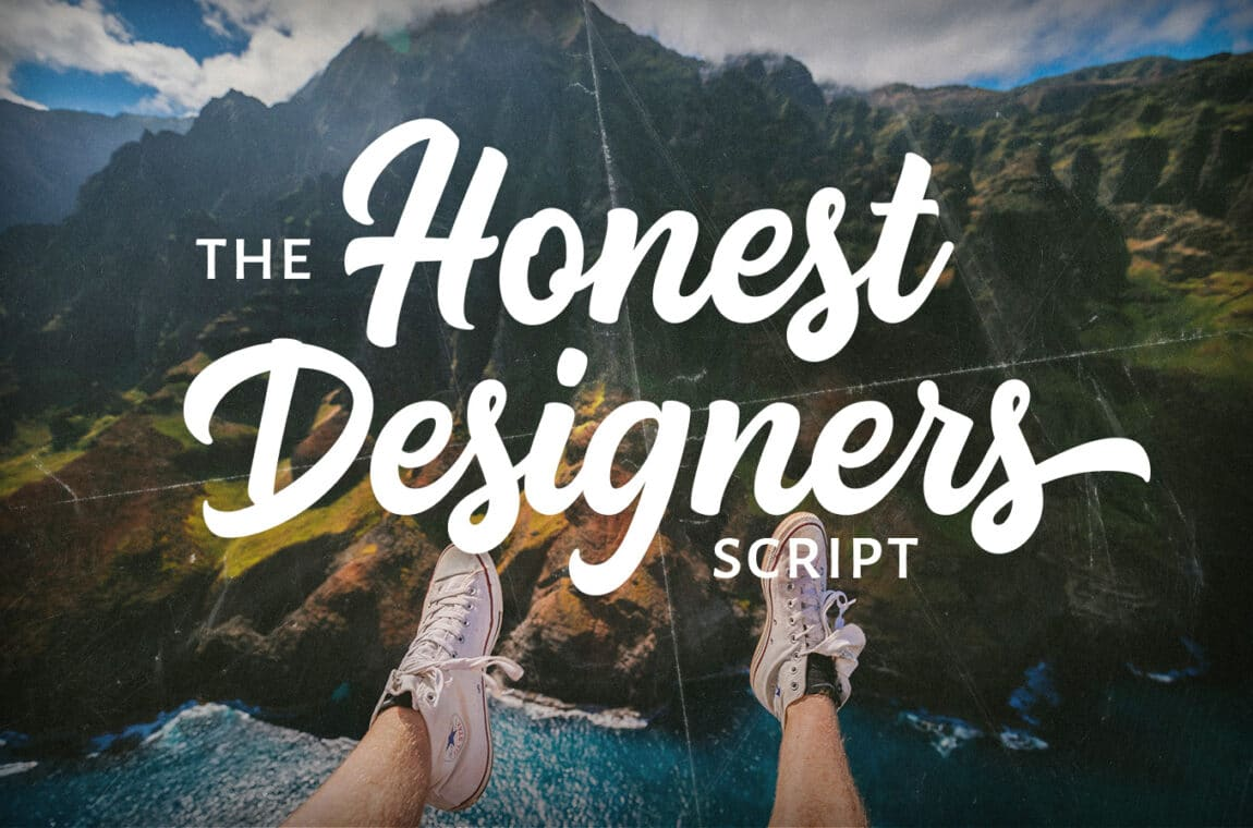 Honest designers calligraphy font
