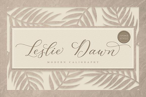 leslie_dawn font cover