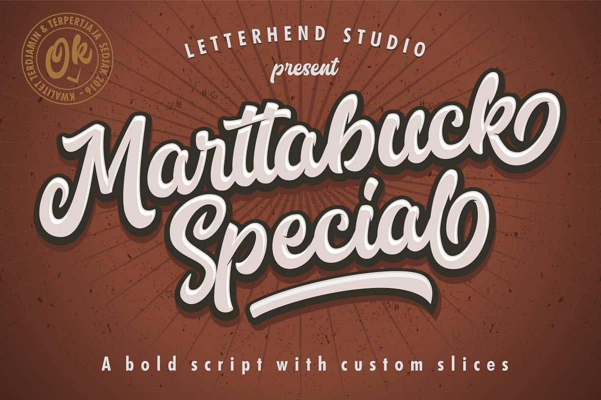 marttabuck33-calligraphy font