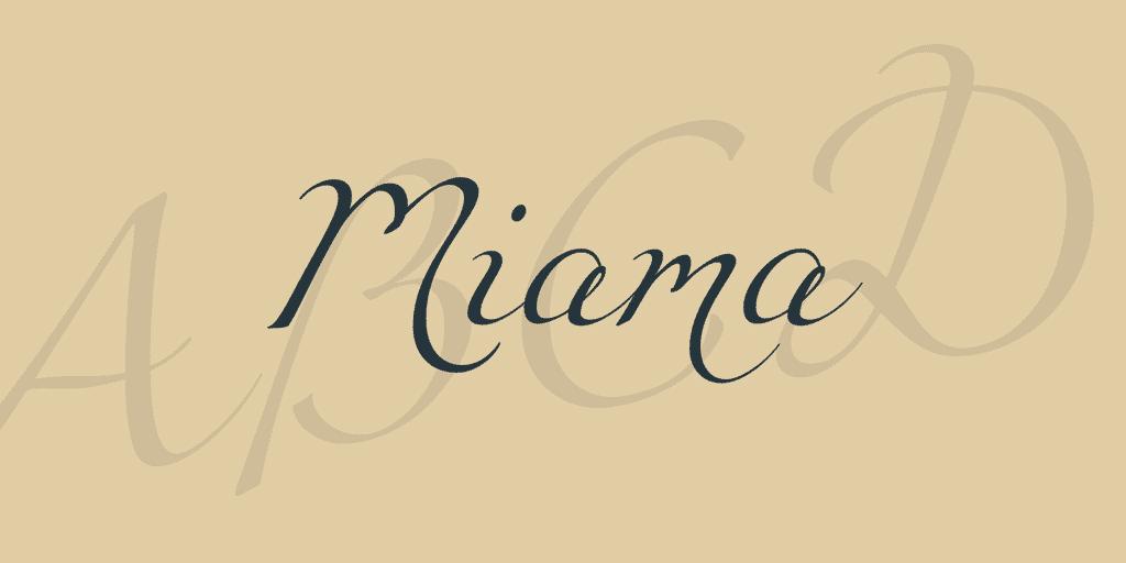 miama calligraphy font