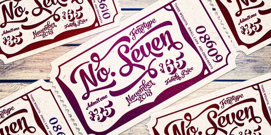 No.Seven calligraphy font