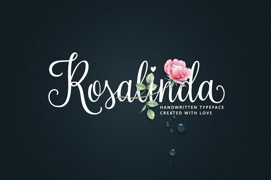 Rosalinda Calligraphy Font