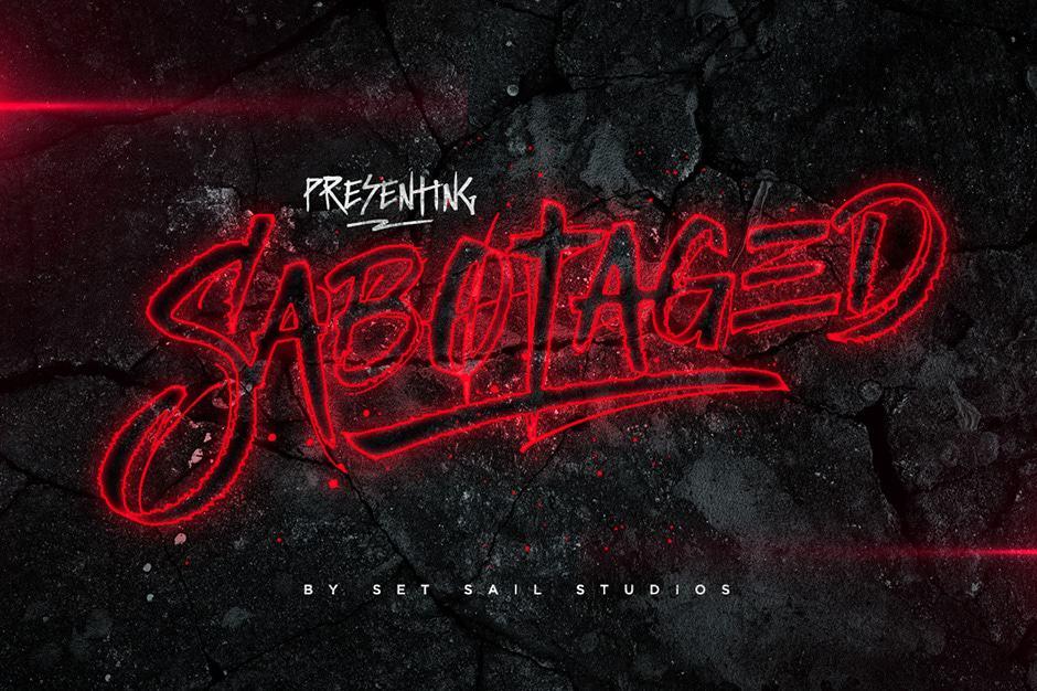 sabotaged-calligraphy font